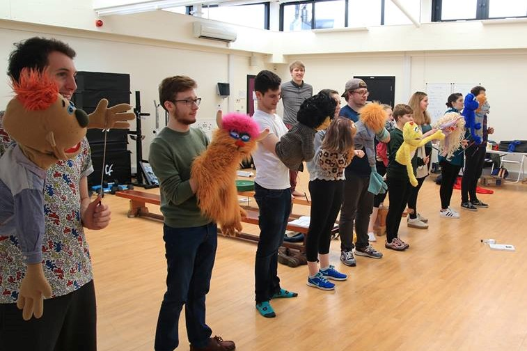 Rehearsals for DULOG's Avenue Q | Photograph: Tom Mack