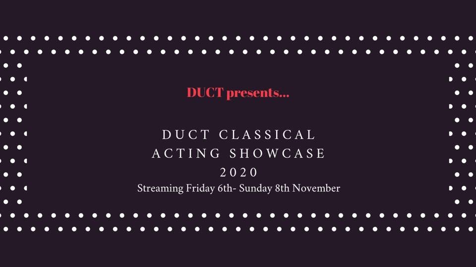 Review: DUCT Classical Acting Showcase 2020